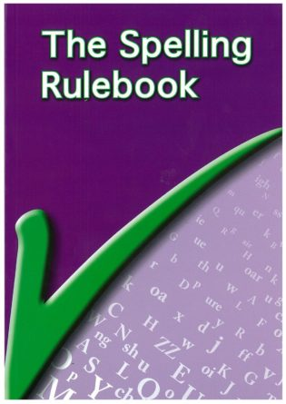 Cover for The Spelling Rule Book - purple with green tick