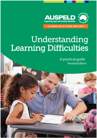 Green cover for Understanding Learning Difficulties: A Practical Guide picturing child and teacher